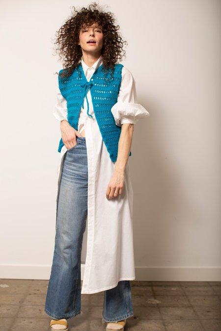 Vintage Sweater Vest - Deep Turquoise