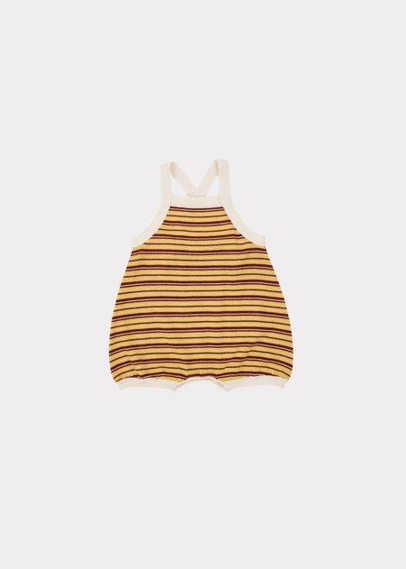 kids Caramel Whaleshark Baby Romper - sunshine stripe