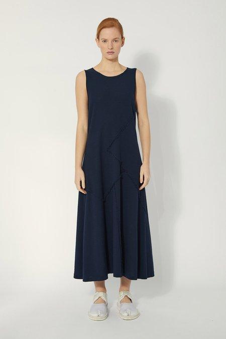 Oyuna Zinto Knitted Fringed Edge Maxi Dress - Ink Blue