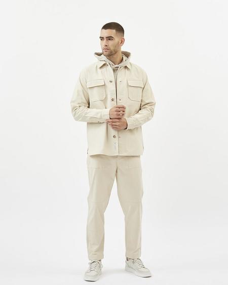 Minimum forvin overshirt jacket - broken white