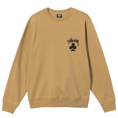 Stussy Club Crew sweater - Khaki