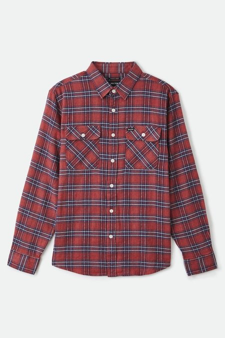 Brixton Bowery Lightweight Crossover Flannel top - Cowhide