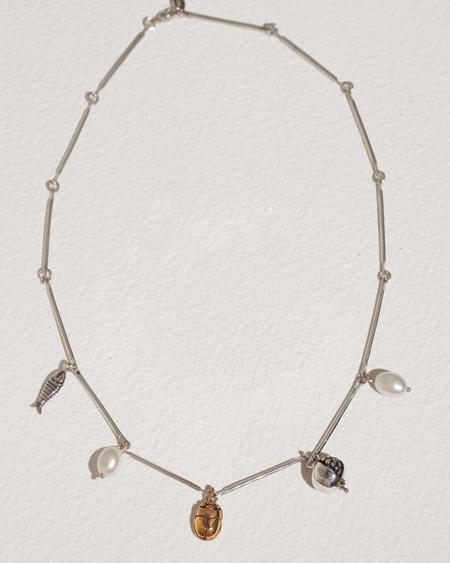 Pamela Love Collector necklace - sterling silver/brass