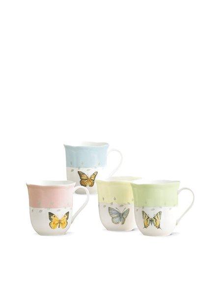 Lenox Set Of 4 Butterfly Meadow Dinnerware Dessert Mug