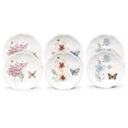 Lenox Set Of 6 Butterfly Meadow Dinnerware Party Plates