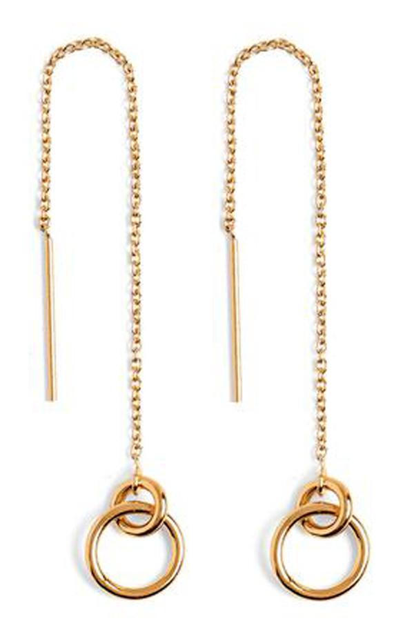 Lady Grey Torsion Threader Earrings