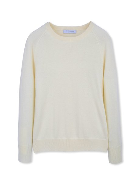 PURECASHMERE NYC Classic Crew Neck Sweater - Ivory