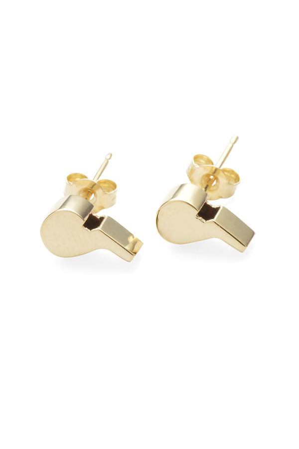 Lauren Klassen 14K Gold Whistle Studs