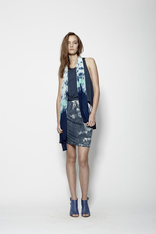 Laura Siegel Hand-Printed Jersey Skirt