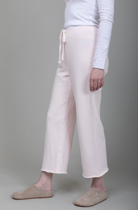 Tee Lab Cropped Wide Leg Sweatpants - Ballet Slipper