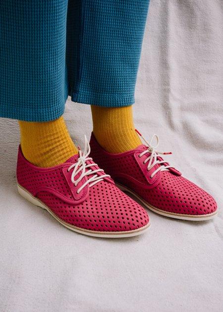 Rollie Nation Derby Punch shoes - Fuchsia Nubuck