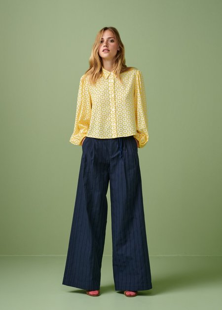 Mabel and Moss Bellerose Howland Embroidered Blouse - Yellow