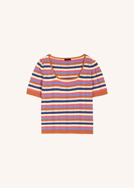 Mabel and Moss Emile Stripe Sweater Top - stripe