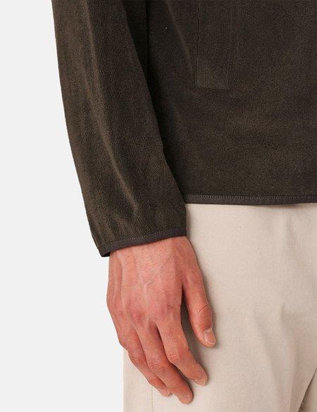 YMC Towelling Jersey Beach Jacket - Dark Olive