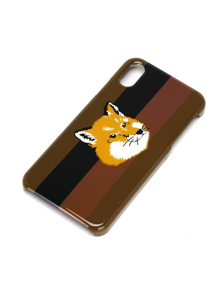 Maison Kitsuné Stripes Fox Head Iphone Case - Multicolor