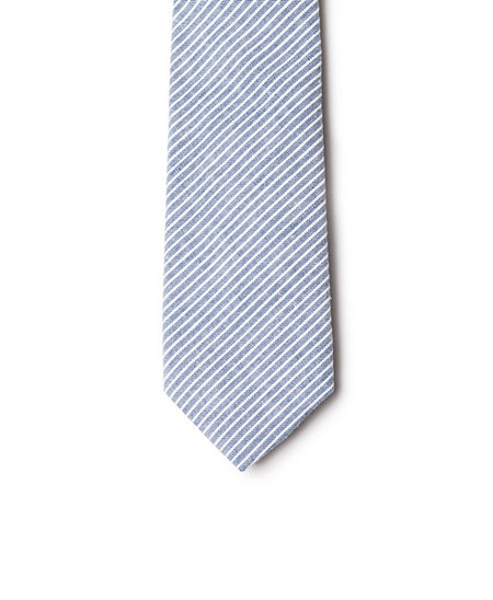 Neighbour Cotton Tie Navy Striped