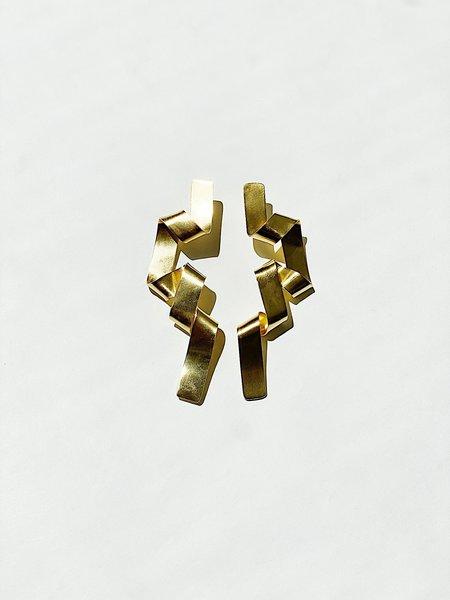 CATH•S Long Ribbon Earrings - Gold