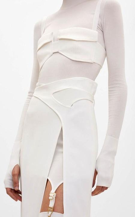 Dion Lee Interlock Skirt - white