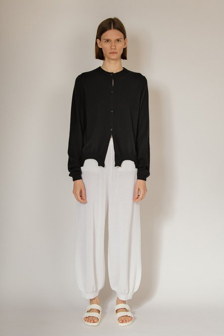 Oyuna Luan Knitted Cotton Trousers - Lily White