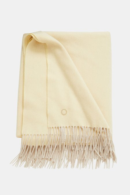 Oyuna Uno Cashmere Throw - Butter/Ecru