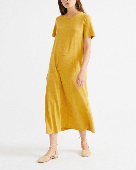 Thinking MU Vestido Oueme Hemp - Mustard