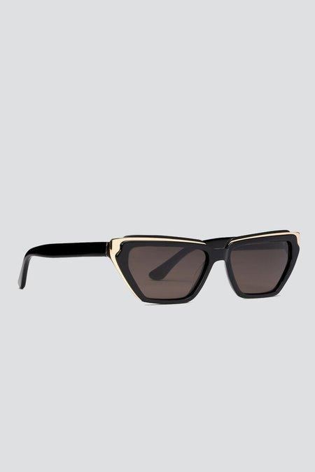 CARLA COLOUR Acetate Lando Sunglasses - Midnight