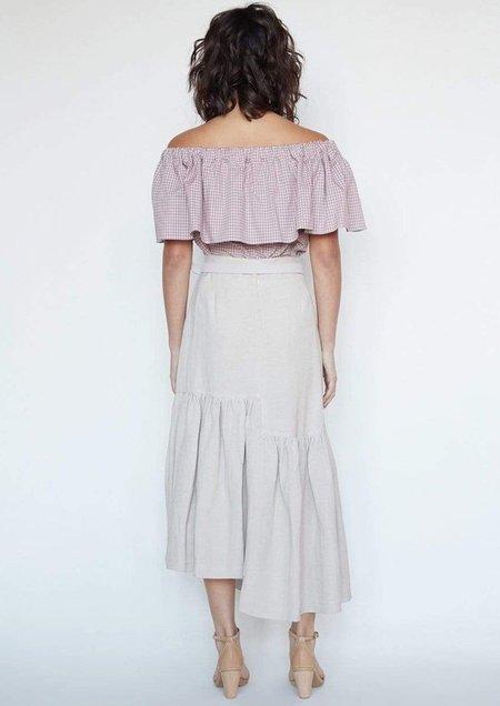 Christine Alcalay SK. Viviane Bi-Level Skirt - Sand
