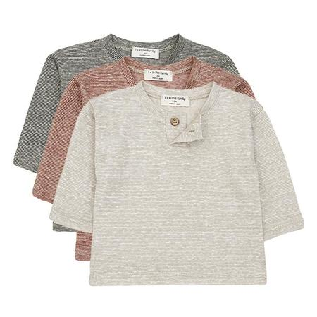 Kids 1+ In The Family Miki Long Sleeved T-shirt With Thin Stripes