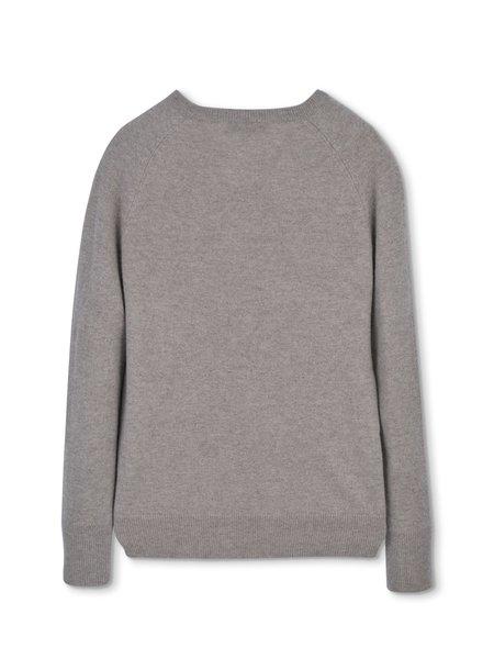 PURECASHMERE NYC Classic Crew Neck Sweater - Beige