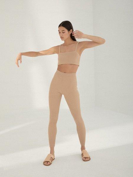 Monica Cordera Ribbed Legging - Maple