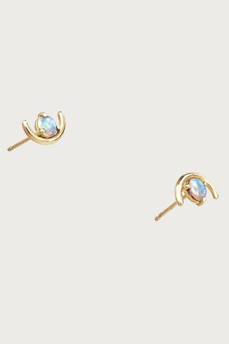 WWAKE Large Opal Arc Earrings