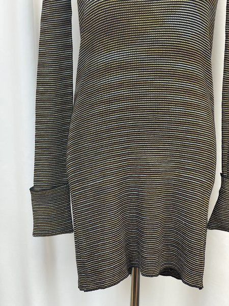 Pre-loved Missoni Striped Tunic Sweater - black/gold multi