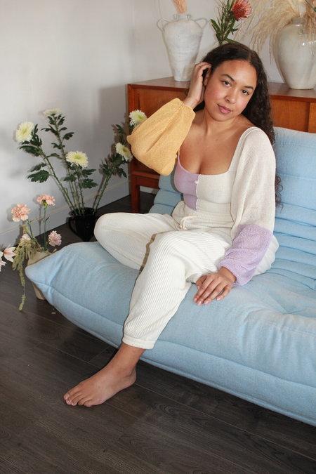 Pearle Knits Angel Wings Top - Lavender Block