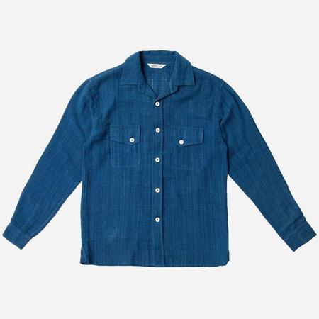 3Sixteen Crosscut Handloom Shirt - Indigo Dyed