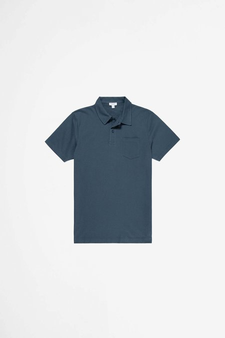 Sunspel Riviera Polo Shirt - Dark Petrol