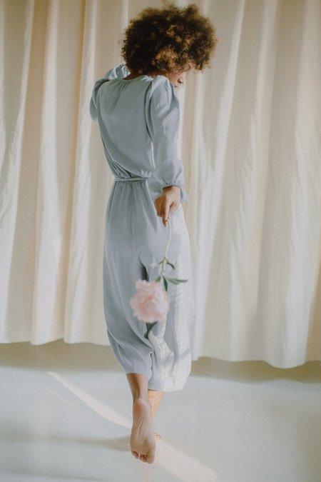 Cossac wrap jumpsuit - blue grey