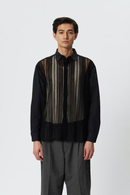 mfpen Generous shirt - black lace