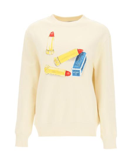Lanvin Lipstick Print Sweatshirt - Beige