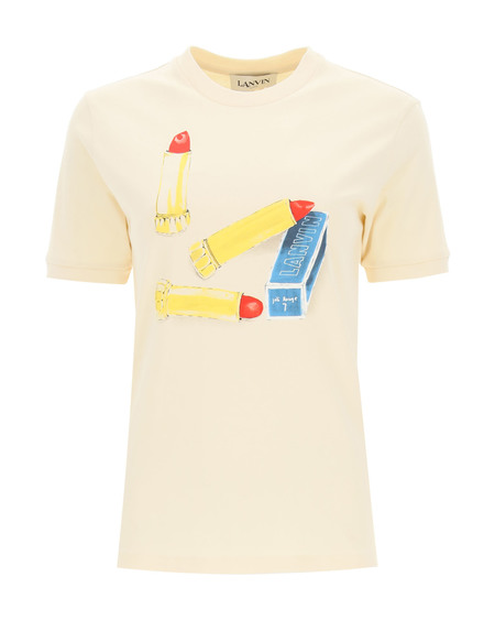 Lanvin Lipstick Print T-Shirt