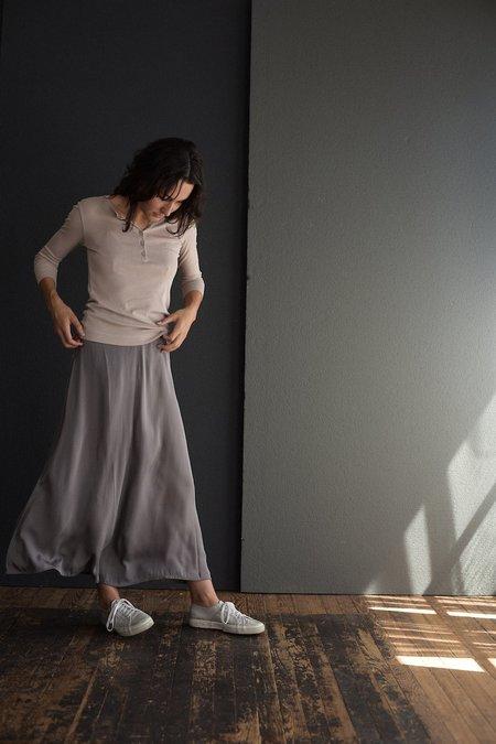 Private 0204 Long Silk Skirt - Greige