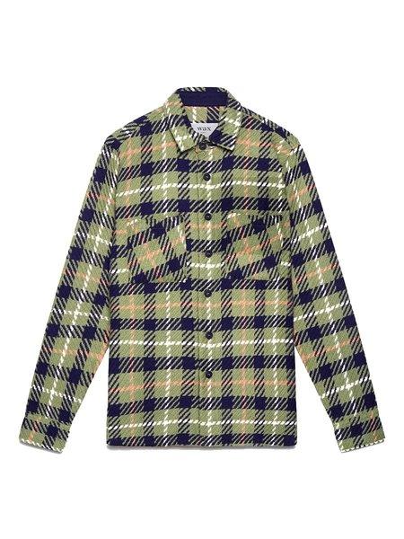 Wax London Whiting Shirt - Kaki Check