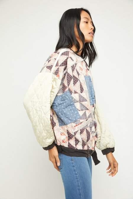 Free People Rudy Quilted Bomber - Multi Combo