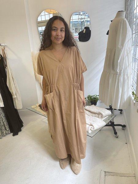Monica Cordera Maxi Cotton Dress - Nougat