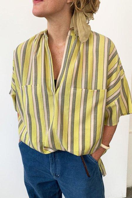 Two New York Two Pocket Shirt - Citron Stripe