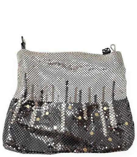 Laura B Christine Leather Party Bag - Gunmetal/Gold