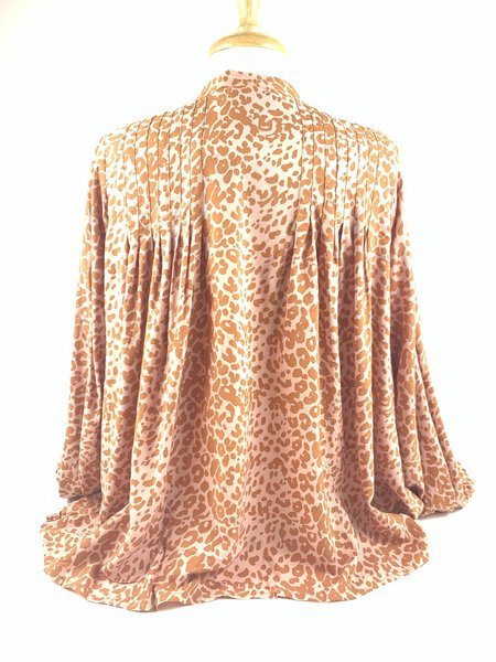 Natalie Martin Lizzy Shirt - Leopard Blush