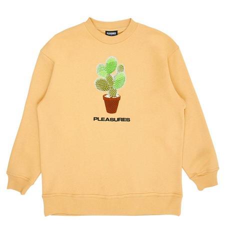 PLEASURES Spike Embroidered Crewneck sweater - Tan