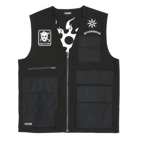 PLEASURES Strike Vest - Black