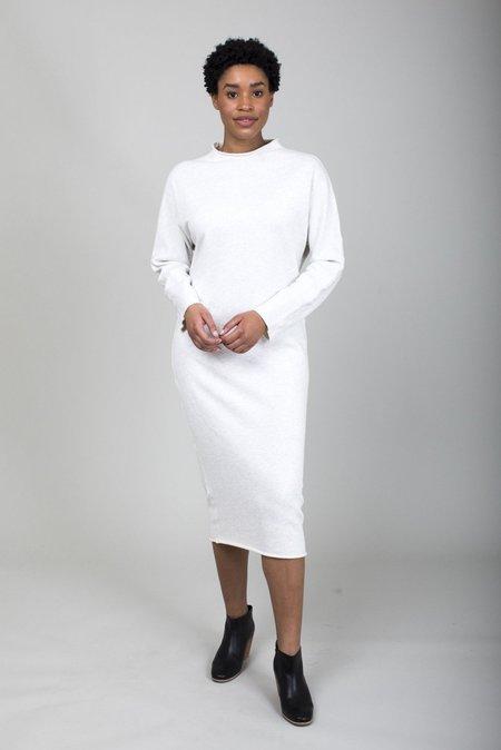Tee Lab Funnel Neck Midi Dress - Heather
