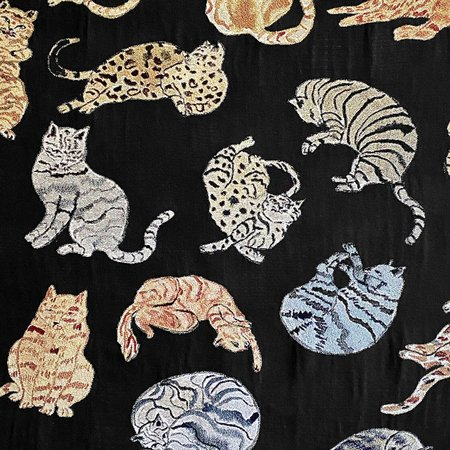 Olivia Wendel Night Cats Blanket - black
